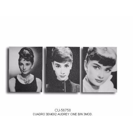 Conjunto tres cuadros Audrey Hepburn